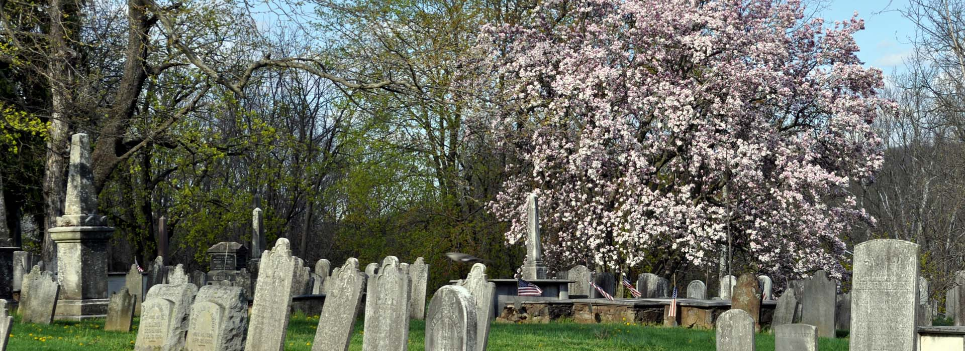 The oldest part of the cemetery dates back to 1775